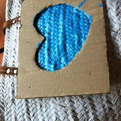 Whith a blue heart