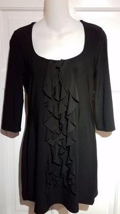92ec507197806d WHITE HOUSE BLACK MARKET Black Tunic Top - S  fashion  clothing  shoes