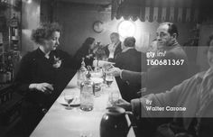 Billy Hill in a Soho bar, 1956