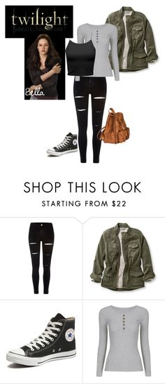 """Twilight Bella Swann"" by chicchivy on Polyvore featuring River Island, L.L.Bean, Converse, Yves Saint Laurent and plus size clothing"