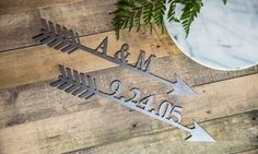 """Groupon - One or Two 16"""" Custom Metal Arrows from Rusted Orange Craftworks Co. (Up to 55% Off). Groupon deal price: $12.99"""