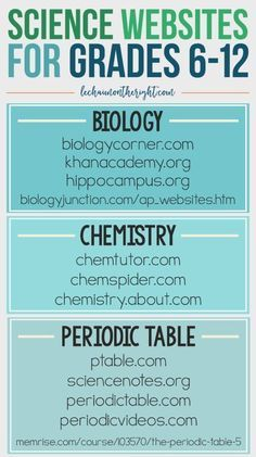 These 40+ free STEM websites: science, technology, engineering, and mathematics are for grades 6-12; middle school and high school. Hands on science