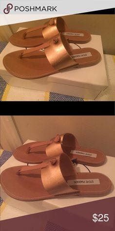 Steve Madden Rose gold Olivia Sandals Sooo cute, perfect for summer.😊 Steve Madden Shoes Sandals