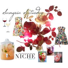 """Sangria Saturday"" by niche-magazine on Polyvore"