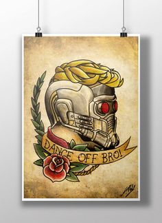 Hey, I found this really awesome Etsy listing at https://www.etsy.com/listing/212844084/star-lord-tattoo-parlour-poster-print