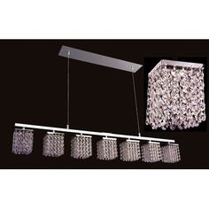 Classic Lighting Bedazzle 7 Light Crystal chandelier Crystal Type: Swarovski Elements Topaz and Clear