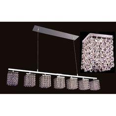 Classic Lighting Bedazzle 7 Light Crystal chandelier Crystal Type: Swarovski Elements Golden Teak