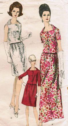 1960s Vogue Special Design 6779 -- great neck line #60s #retro #vintage