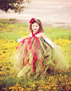 Fairy Tale Tutu Dress, Floor Length Tutu Dress, Tutu Dress, Girl's Dress. $65.00, via Etsy.