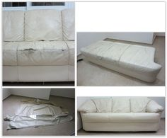 Reupholstering A Torn Leather Couch ... She Took Apart The Couch To Repair  The
