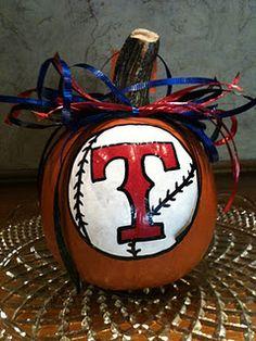 Texas Rangers Pumpkin