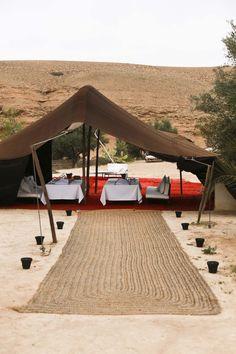 Lunching in the desert // La Pause Agafay Desert
