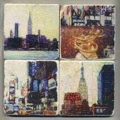 New York Series  Original Coasters by re4mado on Etsy, $49.99