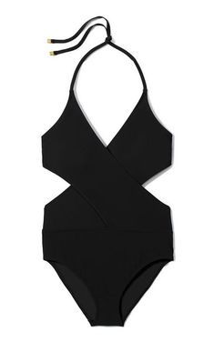 9d9241584b77e Just bought for our west coast trip! Tory Burch solid black one piece  swimsuit