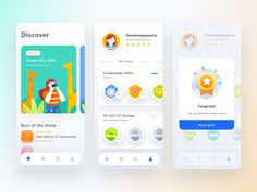 Hi Dribbblers,I tried to explore an UI concept about online course mobile app. The app concept has gamification on it, where the user needs to complete every step before reaching the final. Web Design, Game Design, App Ui Design, Design Layouts, Flat Design, Graphic Design, Mobile App Design, Mobile App Ui, Mobile App Games