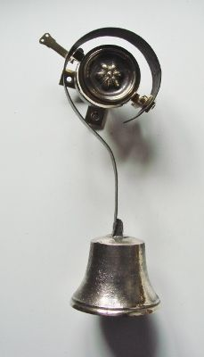 Genuine reclaimed Victorian servants call bell.  For mechanical operation and dating from around 1860 this has, tee shaped brass back fixing plate for surface mounting, brass carriage for bell spring attachment (this swings on the back plate), carriage return spring, finishing roundel with rosette centre, and sand cast brass bell. The return spring can be altered for either left or right hand pull direction (we can do this for you, if so please state pull direction required i.e. left or… Door Bells, Brass Bell, Sand Casting, Back Plate, Swings, Decorative Bells, Centre, Restoration, It Cast