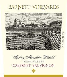 Wine Label for Barnett Vineyards