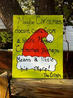 Christmas Painting on Canvas by knockonwoodbymelissa on Etsy, $15.00