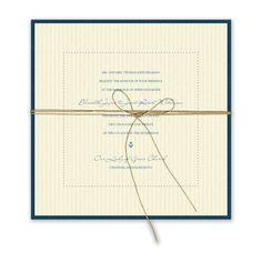 Nautical Wedding Invitations. I love destination weddings that carry the theme throughout the entire event! As low as $5.34 each.