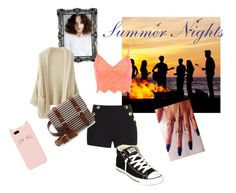 """""""Summer Nights"""" by musie-della ❤ liked on Polyvore featuring Boutique Moschino, Jane Norman, Converse, Sole Society, Kate Spade, women's clothing, women, female, woman and misses"""