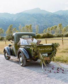 So cute! Wedding Transportation Ideas #wedding #weddingtransportation #weddingplans http://www.theknot.com/weddings/photos/transportation?cm_mmc=twitter-_-aug2014-_-blog-_-weddingrtansportation