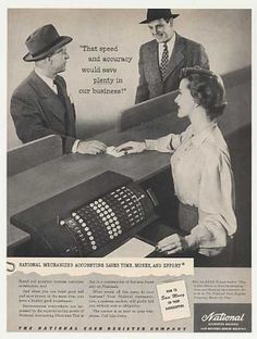 NCR National Accounting Machine Photo (1949)