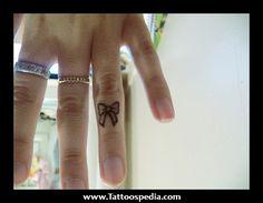 Small Cute Bow Tattoos