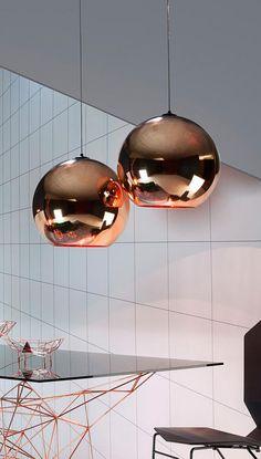 Tom Dixon Copper: Die Pendelleuchte Gibt Jedem Interieur Eine Gewisse  Skulpturale Finesse. Durch Seine