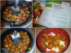 Sweet and Saucy Meatballs Recipe by ActiFry Supper Recipes, Pork Recipes, Cooker Recipes, Appetizer Recipes, Crockpot Recipes, Yummy Recipes, Appetizers, Tefal Actifry, Multi Cooker Reviews