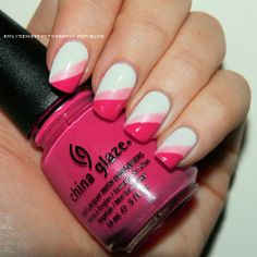 Extend style to your nails with nail art designs. Donned by fashion-forward celebs, these nail designs will incorporate instantaneous glamour to your wardrobe. Get Nails, Fancy Nails, Love Nails, Pink Nails, How To Do Nails, Pretty Nails, White Nails, Color Nails, Colorful Nail Designs