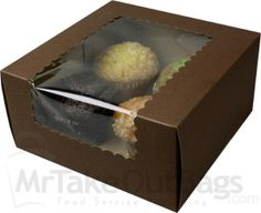And for your jumbo and extra delicious cupcakes. Here's a 4 cupcake box designed for Jumbo cupcakes only!