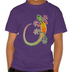 #Gecko #Floral #Tribal #Art #T_Shirt | SOLD! Many Thanks! :) by #BluedarkArt - on #Zazzle
