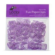 Yoobi 50ct Fun Paperclips - Purple : Target Mobile