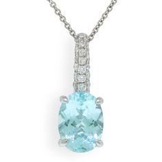 Paraiba Tourmaline & Diamond Pendant $3195