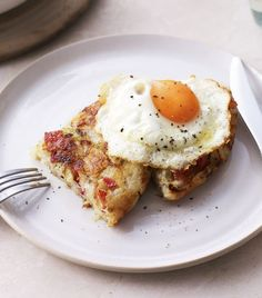 Mary's super-easy bacon and potato rosti with fried eggs is a no-messin' brunch.