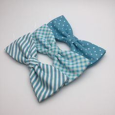 Men's Bow tie Robin Egg Blue Turquoise Bow Tie Pre Tied wedding groomsmen groom polka Dot spot Striped Checked Men Boy Baby Kid Bowtie Gift by GloiberryBowtie on Etsy https://www.etsy.com/listing/260736782/mens-bow-tie-robin-egg-blue-turquoise