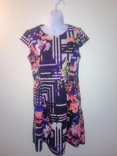 New York & Company Floral Multi-Color Dress Size: Medium  | eBay