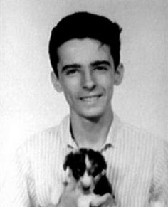 Alice-Cooper's high school yearbook photo, with a puppy. Unfortunately,  there was a biting incident, but the puppy recovered fully... Enjoy RUSHWORLD boards,  EYE POPPING CELEBRITY AND ROYALTY PHOTOS, UNPREDICTABLE WOMEN HAUTE COUTURE and MY GOD IT'S FULL OF STARS. Follow RUSHWORLD! We're on the hunt for everything you'll love!
