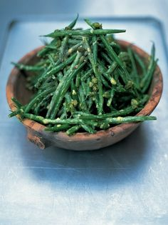 Good old French bean salad. http://www.jamieoliver.com/recipes/vegetables-recipes/good-old-french-bean-salad/#H8E5eX2K5LppWkBG.97