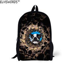 Aliexpress.com : Buy ELVISWORDS Fashion Dog Backpack For Children Boys 3D Animal Printed School Backpack Travel Backpack Mochilas Infantil Girls Bags from Reliable backpacks for children suppliers on Lingka Design Store