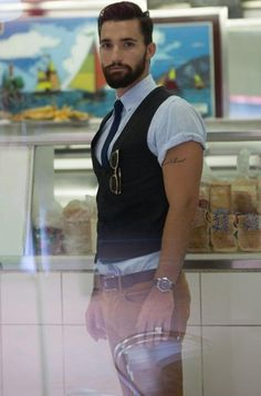How to Rock Mens Vests With Style http://www.99wtf.net/men/mens-fasion/latest-mens-casual-trouser-trend-2016/