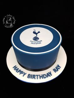 A chocolate mud cake for a Spurs fan. www.facebook.com/cakesbyleannerhodes