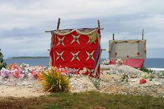 Begraafplaats op de eilandengroep Tonga, vlakbij Nieuw-Zeeland