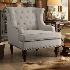 You'll love the Jewel Tufted Wingback Club Chair at Joss & Main - With Great Deals on all products and Free Shipping on most stuff, even the big stuff.