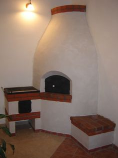 Old fashioned Hungarian fireplace my grandma use to bake bread in this