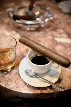 Cuban coffee and a good Cuban cigar!