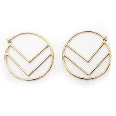 Deco Hoops Gold Fill by Méli Jewelry