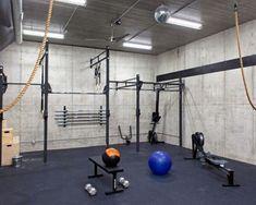 Industrial Style Basement Gym Idea