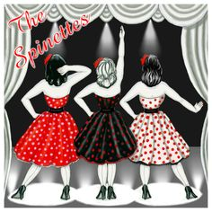Album artwork designed for Vintage girl band The Spinettes. So proud this is on iTunes!