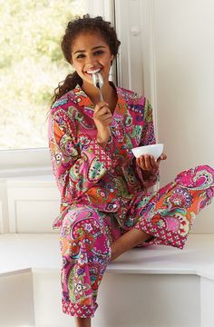 Vera Bradley Pink Swirls pajamas